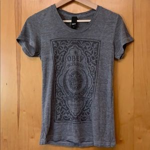 OBEY grey women's tshirt size s